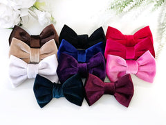 Velvet Bow Headbands or Hair Clips