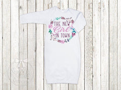 New Girl In Town Newborn Baby Girl Top