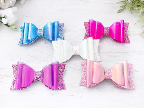 Girl's Jelly Bow Glitter Hair Clips