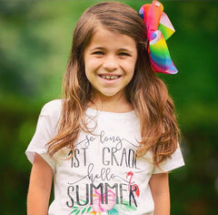 Girls Last Day Of School Hello Summer Shirt