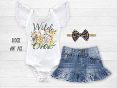 Girl's Wild One Jungle Safari Outfit