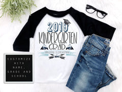 Boy's Kindergarten Graduation Raglan Shirt