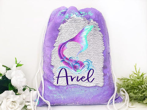 Girl's Reversible Mermaid Backpack