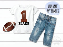 Personalized Football Birthday Outfit
