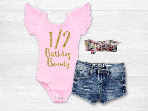 Girl's Half Birthday Beauty Outfit