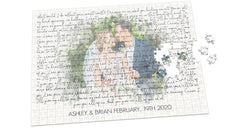 Custom Wedding Photo & Quote Anniversary Keepsake Puzzle