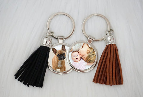 Personalized Photo Tassel Key chain