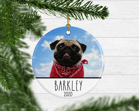 Custom Pet Photo Christmas Ornament