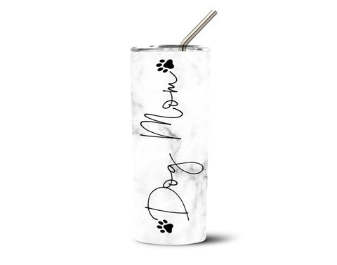Dog Mom Stainless Steel Straw Tumbler