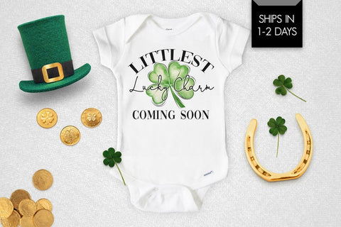 Littlest Lucky Charm Coming Soon Baby Onesie®