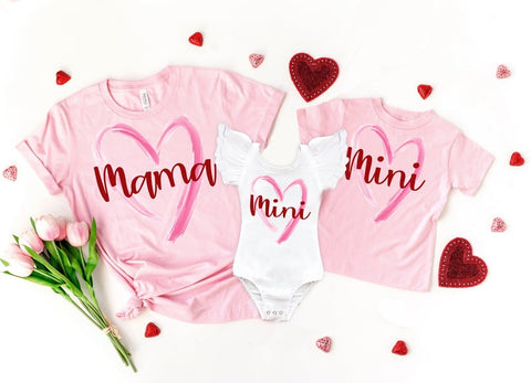Mama & Mini Matching Valentine's Day Top