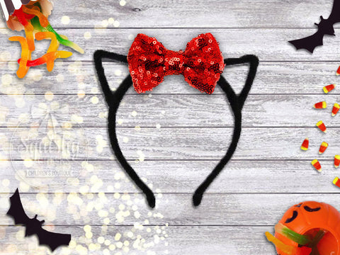 Girl's Cat Ear Halloween Headband