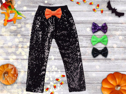 Halloween Black Sequin Pants
