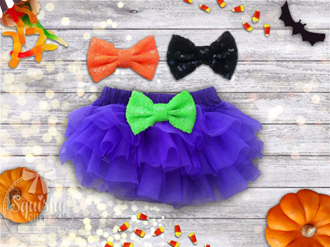 Girl's Halloween Purple Chiffon Bloomers