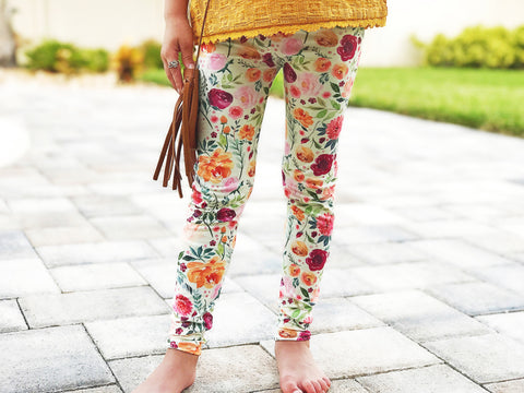 CLEARANCE Fall Floral Leggings
