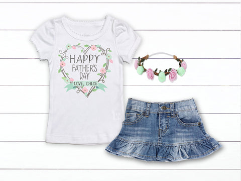 Girl's Happy Father's Day Outfit
