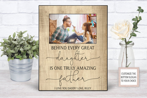 Father's Day Appreciation Personalized Picture Frame