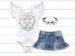 Girl's 1st Father's Day Outfit