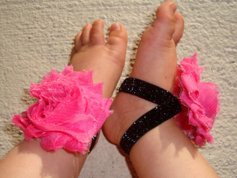 Hot Pink Black Sparkle Piggy Petals