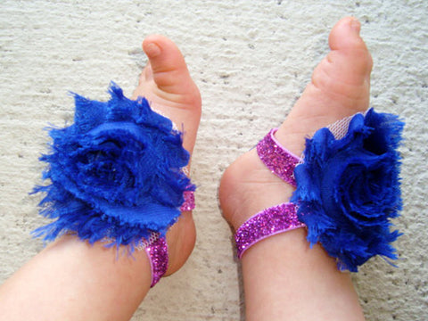Royal Blue Purple Sparkle Piggy Petals