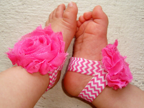 Hot Pink Chevron Piggy Petals