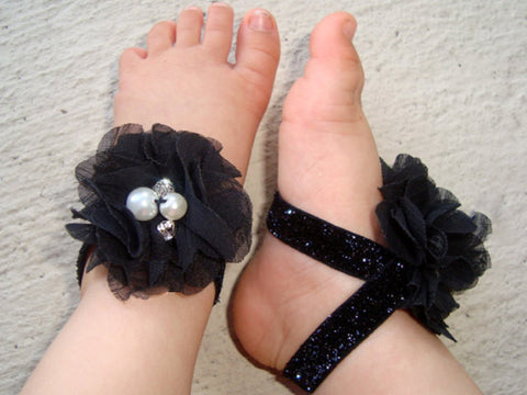 Black Jeweled Sparkle Piggy Petals