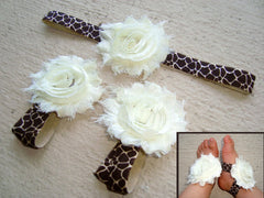Giraffe Piggy Petals and Headband Set