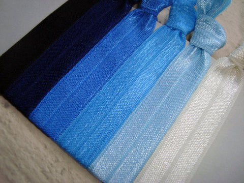 Blue Knotted Hair Ties & Headbands