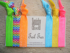 Neon Knotted Hair Ties & Headbands