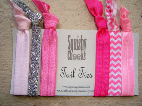 Pink Knotted Hair Ties & Headbands