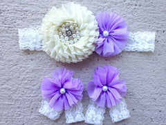 Purple and Ivory Romper Outfit