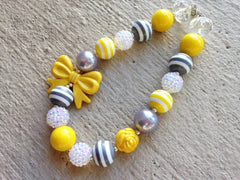 BLOWOUT: Yellow, Grey, and White Chunky Necklace