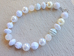 White Chunky Necklace
