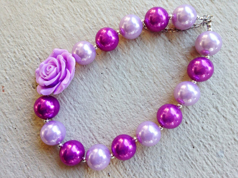BLOWOUT Purple Chunky Necklace