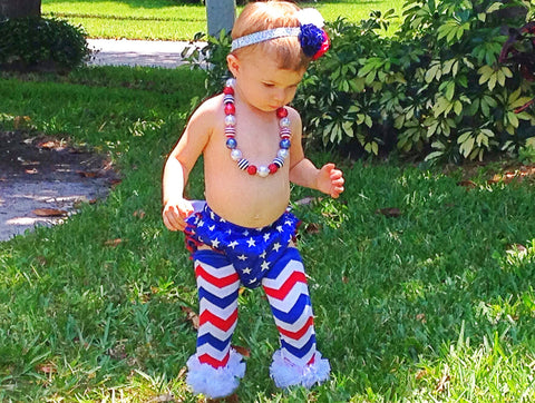 4th of July Baby Girl Bloomer Outfit