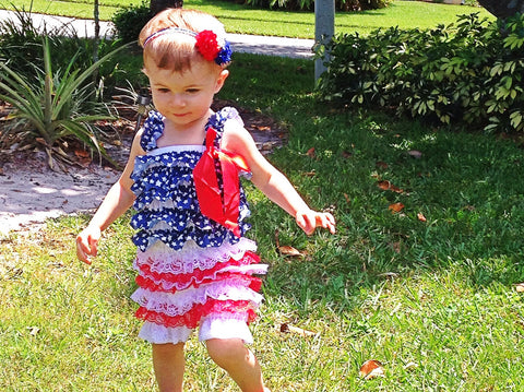 BLOWOUT Red, White, and Blue Romper