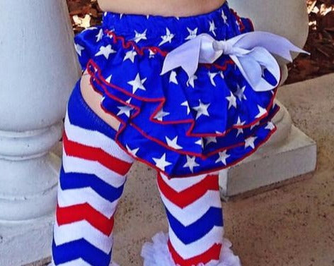 CLEARANCE Patriotic Baby Bloomers