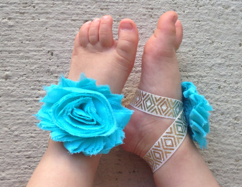 Aqua and Gold Aztec Piggy Petals