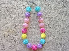 Pastel Sparkle Chunky Necklace