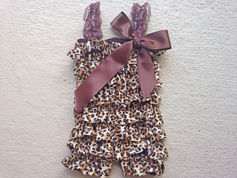 BLOWOUT Leopard Satin Romper