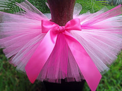 Pink Ombre Poofy Tutu with Satin Bow