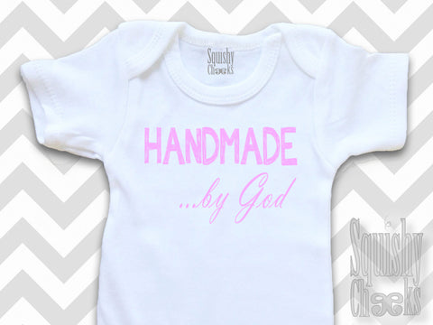 Handmade by God Christian Baby Girl Top