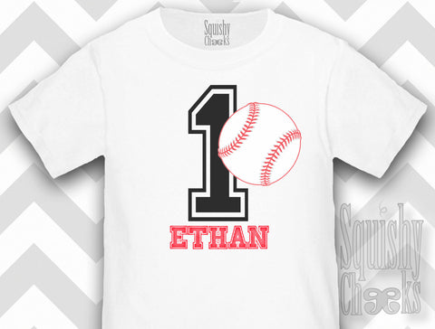 Personalized Baseball Birthday Shirt