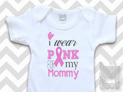 Personalized I Wear Pink Breast Cancer Support Shirt