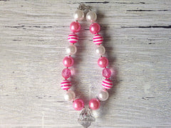 Pink and White Chunky Necklace