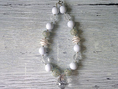 BLOWOUT White Necklace