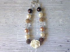 Brown and Ivory Chunky Necklace