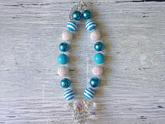 BLOWOUT Blue and White Chunky Necklace