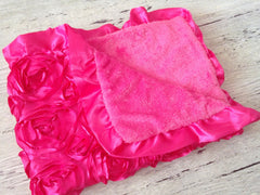 BLOWOUT: Hot Pink Plush Baby Blanket