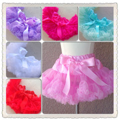 Poofy Petti skirt with Satin Bow, CHOOSE YOUR COLOR